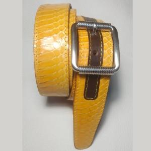 Cintura in rettile in pelle...